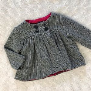 Baby Gap Swing Jacket Brown Cream Chevron 0-6 M